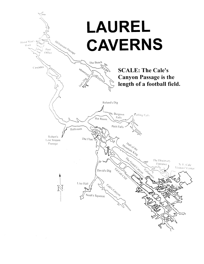 Laurel Caverns Map